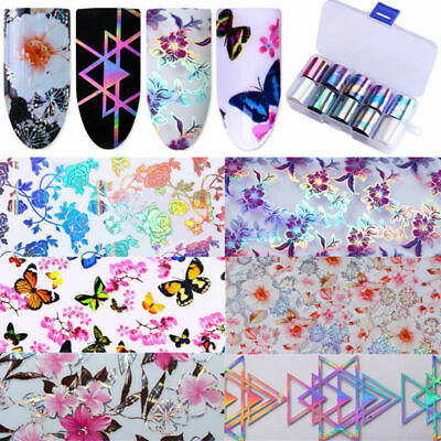 Beauty Holographic Flower Nail Foil Decal Dreamcatche Nail Art Transfer Stickers