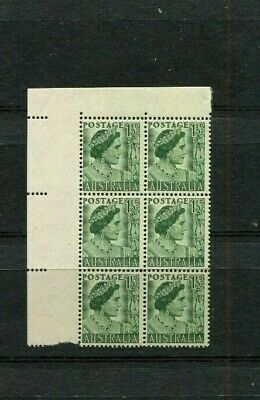 Australia 1950 1.5D Green Sg236  Corner Block Of 6 Mint Unhinged Lot 571