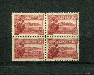 Australia 1927 1.5D Lake Parliment Canberra Block Of 4 Mint Lh Lot 572