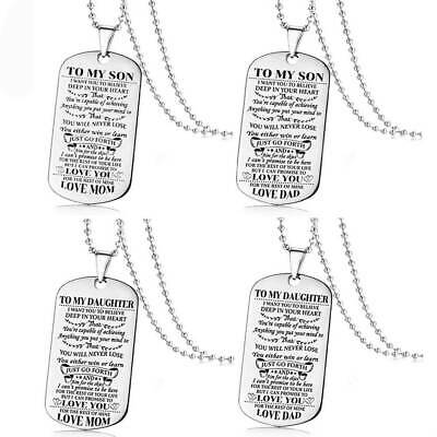 To My Birthday Believe Daughter Dad Love Son Mom Graduation Gift Necklace