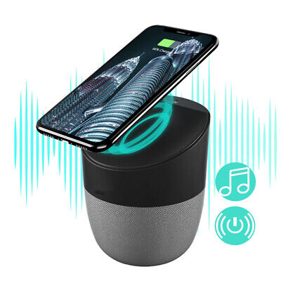 2 in 1 Bluetooth Speaker With Wireless Charger Portable Charging Stereo Speaker