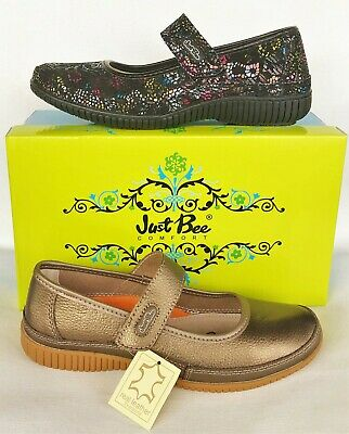 Just Bee Shoes comfort Women's leather walking shoe with adjustable strap Calisa