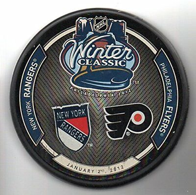 2012 Winter Classic Philadelphia Flyers vs Rangers NHL Hockey Puck + FREE Cube