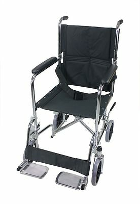 MW-6000 Transport chair Wheelchair Lightweight foldable with lock brake, Light