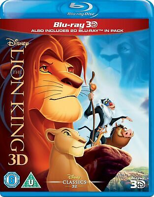 THE LION KING Brand New 3D BLU-RAY and 2D Region-Free DISNEY MOVIE USA Seller