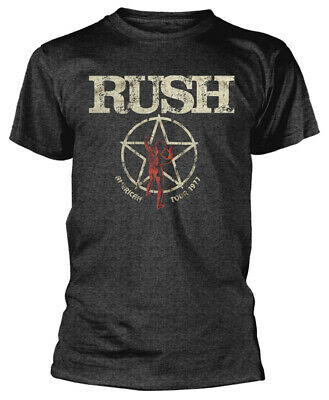Rush Hoodie American Tour 1977  Band Logo new Official Mens Black Pullover Size
