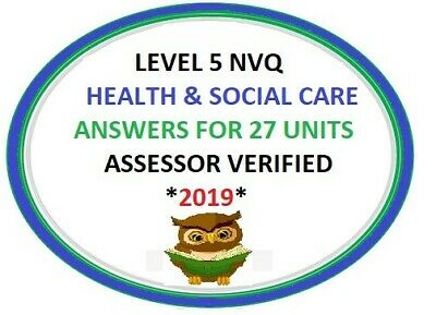 NVQ Level 5 Diploma Health and Social care Answers * 27 UNITS* + QUICK DISPATCH
