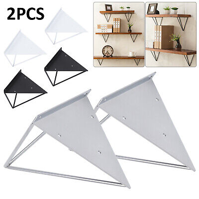 Durable Hairpin Industrial Wall Shelf Bracket Support Metal Prism Mount 2PCS
