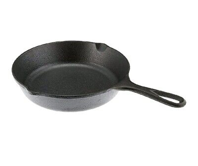 Lodge 8 Inch Cast Iron Skillet Small Pre-Seasoned Stovetop Oven Frying Pan Cook.