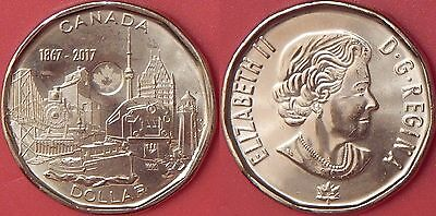 Brilliant Uncirculated 2017 Canada 150th 1 Dollar From Mint's Roll