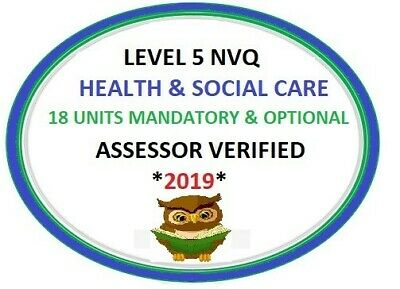 NVQ/QCF Diploma LEVEL 5 Health and Social Care Leadership Management  ALL UNITS