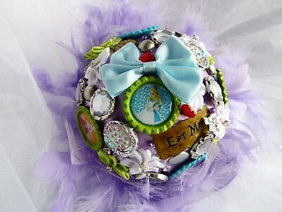 Beautiful Alternative Bride Bouquet Wedding Alice In Wonderland Themed Purple (5