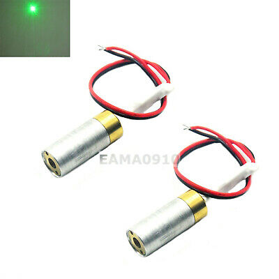 2pcs INDUSTRIAL/LAB 5VDC 532nm Green Laser 10mW Dot Diode Module w/ Driver in