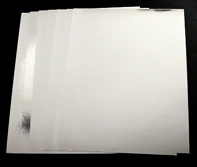 BRAND NEW -  8 Sheets Of A5 Silver Foil Card Craft Cardstock - 270gsm