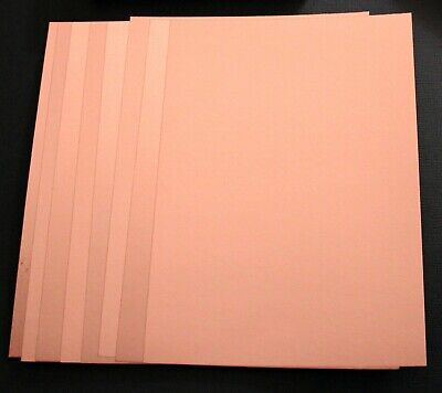 BRAND NEW -  8 Sheets Of A5 Rose Gold Foil Mirror Card Craft Cardstock - 270gsm