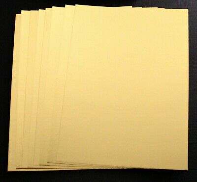 BRAND NEW -  8 Sheets Of A5 Gold Foil Card Craft Cardstock - 270gsm