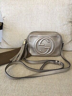 2153831e AUTHENTIC GUCCI SOHO LEATHER SMALL DISCO CROSSBODY SHOULDER BAG *excellent  condi