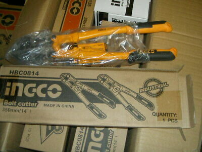 """Ingco 14"""" Bolt Cutters Croppers Cutting Bolts Chains Padlocks Wire Mesh"""