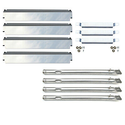 Replacement Charbroil 463247310 Gas Grill Burner,Crossover Tubes,Heat Shield-4PK