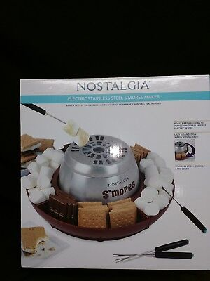 Nostalgia Electric Stainless Steel S'Mores Maker Lazy Susan Tray NEW