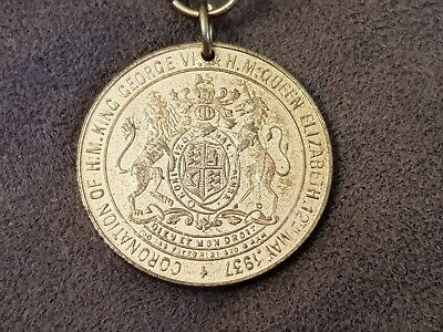 Coronation Of King George Vi & Queen Elizabeth 1937 Medal Medalion