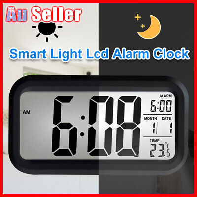 Led With Calendar+Thermometer Backlight Electronic Alarm Clock Digital IBQ& Time