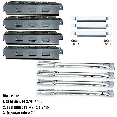 Replacement Charbroil 463420507,463420509 Gas Burners,Carryover Tubes,Heat plate