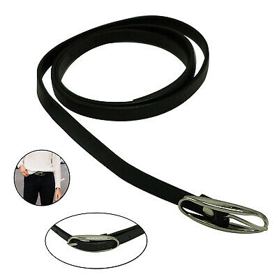 10mm Shiny Black Thin Waist Belt For Stylish Ladies Girls Fashion Party Events
