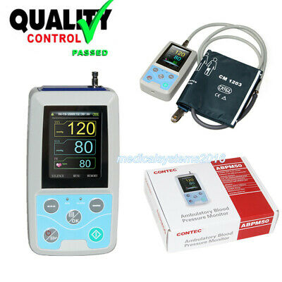 CONTEC NIBP Monitor 24Hr Ambulatory Blood Pressure Holter+PC Software CE FDA USA