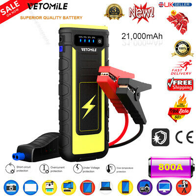 20000mAh 800Amp Car Jump Start Starter Rescue Booster Battery Charger Power Bank