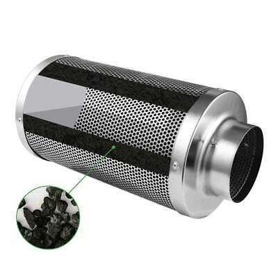 """4""""x10"""" Scrubber Odor Control Hydroponic Tent Steel Air Carbon Charcoal Filter"""