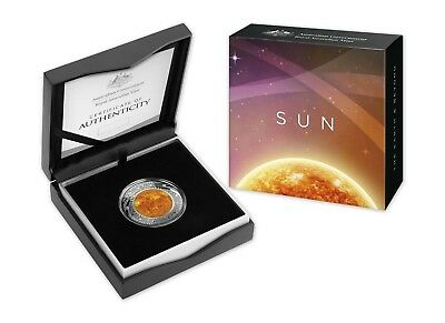 2019 The Earth & Beyond - The Sun - 1oz Coloured Silver Domed Proof Coin