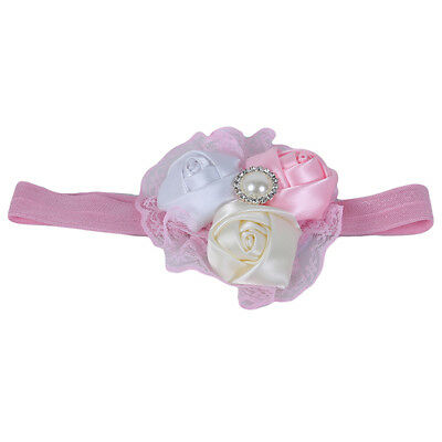 Infants Baby Kids Lace Flower Headband Hair Band Fashion Accessories B