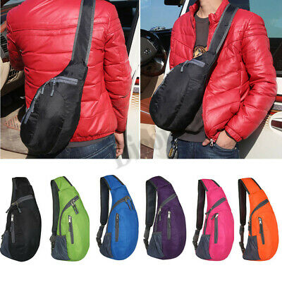 Men Travel Hiking Sling Chest Bag Cross Body Bag Shoulder Back Sports Pack