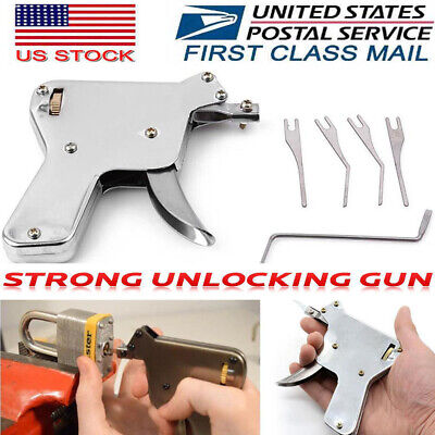 THE LOCKSMITH TOOL The Locksmith Tool with 5pcs Tip Door Lock Opener Gun USA