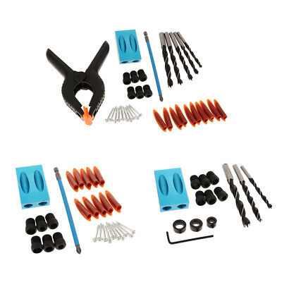 Pocket Hole Jig Kit System with 6mm, 8mm, 10mm Drill Bits