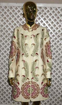 bc711b54c48 Uzbek Traditional Bukhara Outwear Costume Jacket Silk Embroidery Suzani 1371