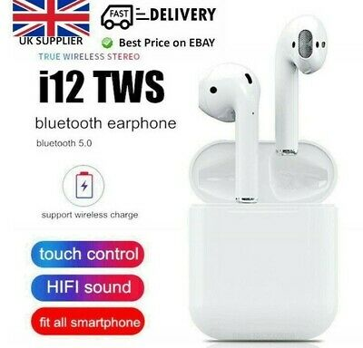 i12 TWS 5.0 Wireless Bluetooth Earphone - UK SELLER- 2019 VERSION