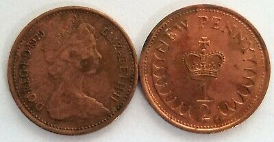 1 x 1979 Royal Mint Half Penny 1/2p Pence Coin - circulated condition