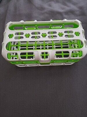 Munchkin Baby Bottle Feeding Spoons Deluxe Dishwasher Basket Green White