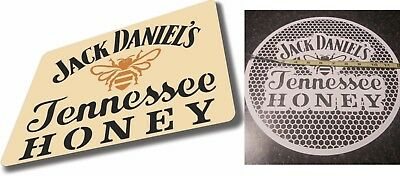 JACK DANIELS  BAR Airbrush stencil 1 layer PICK YOUR SIZE Tennessee Honey