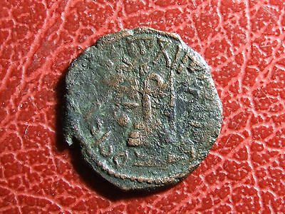 Islamic ARAB-BYZANTINE Standing Caliph circle-on-steps unusual type Rare Coin to