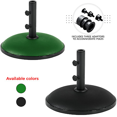 Heavy Duty 11kg Concrete Round Umbrella Parasol Base Stand Patio Outdoor Garden