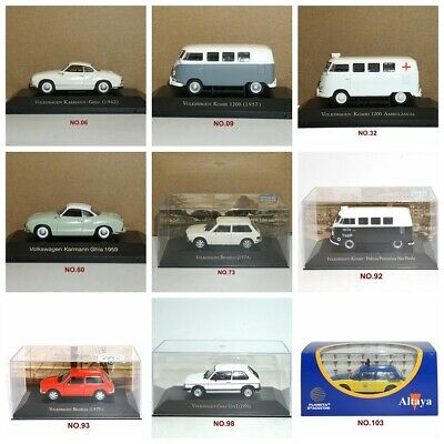 3pcs Suit 1:43 Toy IXO Car Model VOLKSWAGEN SERIES COLLECTION Multiple Choice