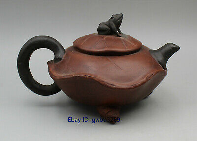 Collection Old China Yixing Purple sand Pot Handwork Frog Teapot 150CC