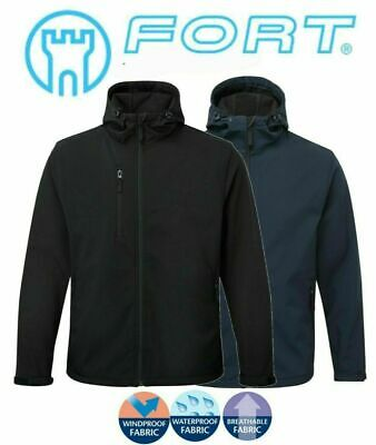 Fortress Soft Shell Fleece Lined Waterproof Windproof Outdoor Work Jacket Mens