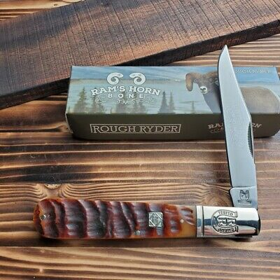 Rough Rider Rams Horn Big Daddy 440 Stainless Steel Folding Pocket Knife RR1595
