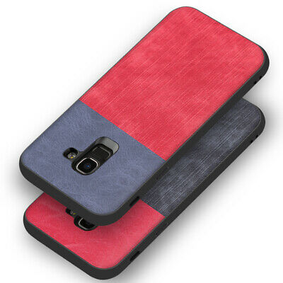 For Samsung Galaxy J4 J6 Plus 2018 J3 J5 J7 2017 PU Leather+ Fabric Case Cover