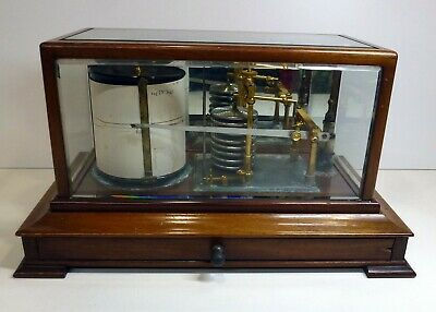Antique Drum Barograph Recorder