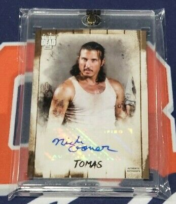 2018 Topps The Walking Dead Autograph Collection Nick Gomez as Tomas 92/93 Made